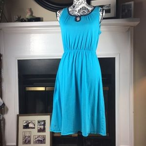 Lilly Pulitzer Pima cotton sun dress XS turquoise